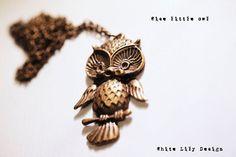 Cute Owl Pendant #whitelilydesign $15