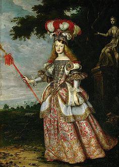 1667 Infanta Margarita Teresa de Habsburgo by Jan Thomas (Kunsthistorisches Museum - Wien Austria)