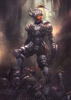 Awesome new anime The Goblin Slayer. (Based on the Goblin Slayer manga) Fantasy Warrior, Dark Fantasy Art, Sith Armor, Knight Armor, Armor Concept, Concept Art, Goblin, Arte Dark Souls, Batman Armor