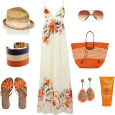 Fun in the Sun by srose38 on Polyvore featuring moda, Oasis, Chocolat Blu, Balenciaga, Dsquared2, Bochic, MANGO and Clarins