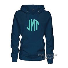Navy Monogrammed Ladies Fleece Hoodie Personalized Vneck Hooded... ($34) ❤ liked on Polyvore featuring tops, hoodies, dark olive, women's clothing, navy blue hoodies, navy blue shirt, fleece hoodie, hooded pullover and monogrammed shirts
