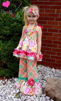 Rihanna's Flower Pants and Capris PDF Pattern by CreateKidsCouture, $6.00