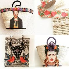 100% Brighton Babe Originals . . . . . #fridakahlo #fridabag #handmade #crafts #handmadegifts #beachbag #beach #boho #strawbasket #marketbasket #marketbag #panier #strandtasche #capazos #ibizafashion #hippiestyle #wovenbag #homedecor