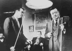 """Paul Newman and Jackie Gleason in """"The Hustler"""" (1961)"""