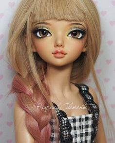 Finished face up for Briana. Minifee Luka (tan) -