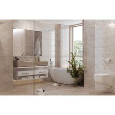 Obklady a dlažba do koupelny série Constanta je v lesklé imitaci mramoru v přírodních odstínech béžové a hnědé. Formát obkladů je 25 x 40 cm. #keramikasoukup #koupelnyodsoukupa #constanta #koupelnyinspirace #inspirace #inspiration #mramor #obkladydokoupelny #koupelna Alcove, Bathtub, Bathroom, Standing Bath, Washroom, Bathtubs, Bath Tube, Full Bath, Bath