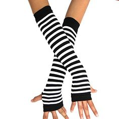 Punk Gothic Rock Long Arm Warmer Fingerless Gloves, http://www.amazon.com/dp/B00OAWNY66/ref=cm_sw_r_pi_awdm_QbfTub1WE51MP