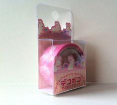 Kawaii Japan Deco Masking Tape: DecoPoco Series White Bunnies