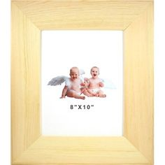 """The wooden Photo Frame comes in a natural finish you can decorate and personalize with your own style.    Frame can be used with or without mats and glass. Please note the frame does not come with glass.    Frame Dimensions:      Length: 10""""    Width: 8"""""""