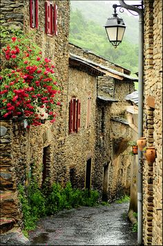 Medieval Évol, France • photo: Sigfrid López on Flickr~I can see myself walking down this street.
