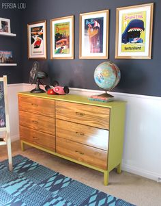 Persia Lou: Small Shared Boy and Girl's Bedroom: Vintage Disneyland Room Reveal