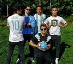 Midnight Red. The fact that Anthony is wearing a Messi jersey makes me so happy.