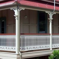 An excellent example of the Chatterton panel Queenslander, Traditional Design, Building A House, Pergola, Outdoor Structures, Balcony, Outdoor Decor, Homes, Home Decor