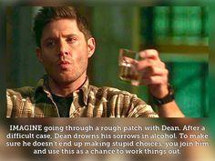 Supernatural Fanfiction, Supernatural Imagines, Jared Padalecki Supernatural, Winchester Supernatural, Love Puns, Drinking Buddies, Super Natural, Jensen Ackles, Writing Prompts