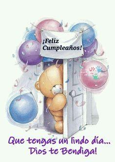 Happy Birthday ✿⊱╮ by VoyageVisuel Happy Birthday Balloons, Happy Birthday Images, Happy Birthday Wishes, Birthday Photos, Birthday Greetings, Tatty Teddy, Teddy Bear, Scrapbook Images, Bear Birthday