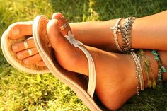 pretty anklets and toe rings