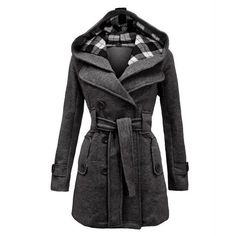 Trench Coat for Women 2016 Fashion Turn-down Collar Slim Cashmere Sashes Double Breasted Coat Women Overcoat Manteau Femme Fashion Casual, Winter Fashion, Women's Casual, Casual Belt, Women's Fashion, Vintage Fashion, Fashion Coat, Cheap Fashion, Fashion Women