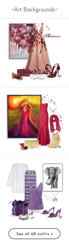 """""""~Art Backgrounds~"""" by justwanderingon ❤ liked on Polyvore featuring Lela Rose, Burberry, Edie Parker, Chupi, Eddie Borgo, Givenchy, Mixit, Lauren Ralph Lauren, Laura Biagiotti and Ariella"""