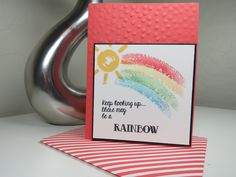 Stampin' Up! - Over the Rainbow - http://dashofpapercraft.com/2015/07/stampin-up-over-the-rainbow/ Show words of encouragement with Stampin' Up!'s Over the Rainbow stamp set.  Learn more on my Dash of Papercraft demonstrator blog. - Julie Koerner
