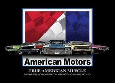 American Auto, American Motors, American Muscle Cars, Vintage Cars, Antique Cars, 60s Muscle Cars, Hudson Car, Amc Gremlin, Amc Javelin