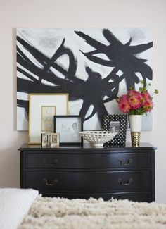 DIY Art  Black on burgundy and gold for BIF