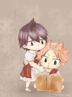 Ever since that big plot twist people have been drawing then together, little did they know that means natsu's hair in the begining was black