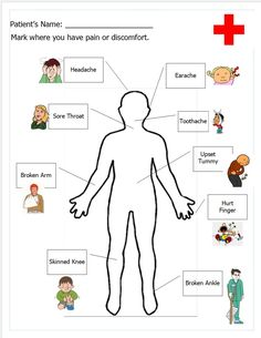 Free printable worksheet for doctor's office pretend play.