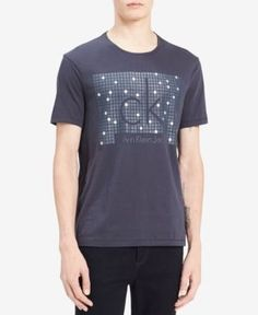 Calvin Klein Jeans Men's Graphic-print T-shirt In Deep Depths Print T Shirts, Tee Shirts, Tees, Polo Shirt Outfits, Calvin Klein Jeans, Tshirts Online, Casual, Prints, Mens Tops