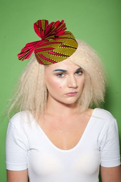 Percher hat in African print