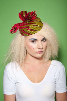 Percher hat in African print