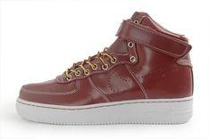 hot sale online e09bc a00b0 908 Marron Blanc Nike Air Force 1 High Top Homme Training Pas Cher discount  codes de zapatos de for on sale
