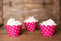 Hot Pink Polka Dot Cupcake Wrappers 12 Count *** For more information, visit image link.