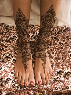 Eid Mehndi Designs for Foot Trendy Selection 2010 | YusraBlog.com