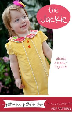 Image of The Jackie Dress: 3 mos.-8 years Who does this look like????  #Andrea