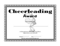 clip art cheer | Certificate For Cheerleading – cheerleading Award - Free Printable ...
