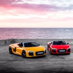 Which color of the R8ainbow pleases you most? 1 #yellowR8 2 #redR8 3 #blackR8 4 #blueR8 -- #Audi #R8Spyder #R8color ---- oooo #audidriven - what else picture Audi ---- #AudiR8 #newR8 #R8 #Spyder #newR8Spyder #quattro #4rings #AudiSport #drivenbyvorsprung #audirsperformance #carsbyaudisport #yellowaudi #redaudi #blackaudi #blueaudi
