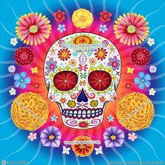 Sugar Skull Art: Starburst by Thaneeya-McArdle by thaneeya, via Flickr