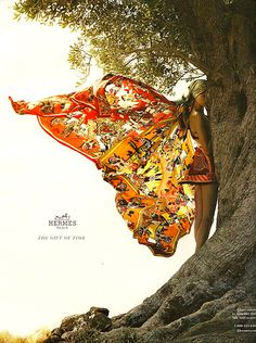 Butterfly wings, Hermes silk scarf