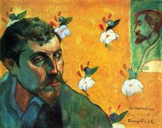 "Paul Gauguin, ""Self Portrait with portrait of Bernard (Les Misérables)"", 1888  Oil on canvas. Rijksmuseum Vincent van Gogh, Amsterdam."