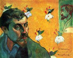 """Paul Gauguin, """"Self Portrait with portrait of Bernard (Les Misérables)"""", 1888  Oil on canvas. Rijksmuseum Vincent van Gogh, Amsterdam."""