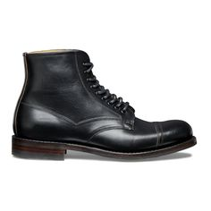 Joseph Cheaney & Sons Jarrow R Country Derby Boot Black Chromexcel Leather - Trouva Gentlemans Club, Men's Shoes, Shoe Boots, Dress Boots, Cheaney Shoes, Fashion Boots, Mens Fashion, Oxford Boots, England Fashion