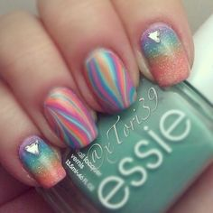 #watermarble and #gradient nails  @Tori Sdao Sdao T
