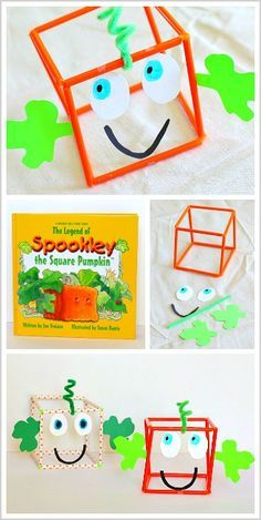 Halloween Math for Kids: Make a 3-D Spookley the Square Pumpkin ~ BuggyandBuddy.com (Meets Common Core Standards)