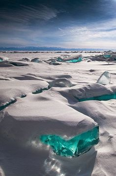 Lake Baikal in eastern Siberia