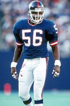 Lawrence Taylor - 13 NFL seasons believed by many to be the best middle linebacker of all time