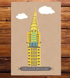 Graphic Design - Graphic Design Ideas  - Chrysler Building Art Print by Tammy Smith Design on Scoutmob Shoppe   Graphic Design Ideas :     – Picture :     – Description  Chrysler Building Art Print by Tammy Smith Design on Scoutmob Shoppe  -Read More –