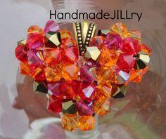 DAILY DEAL  BLAZE Necklace Swarovski Crystal by HandmadeJILLry, $30.00