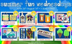 Summer Arts & Craft Activities For Kids Concord, NC #Kids #Events