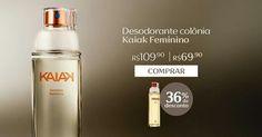 Compre na Loja Online Natura o desodorante colônia Kaiak feminino com 36% OFF e economize R$ 40. Promoção válida de 26/09 a 02/out ou enquanto durarem os estoques.