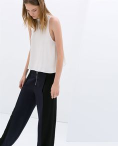Image 7 of COMBINED WIDE TROUSERS from Zara